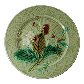 Majolica Strawberry Decorative Plate