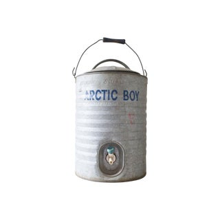 1960s Large 3 Gallon Arctic Boy Metal Water Cooler
