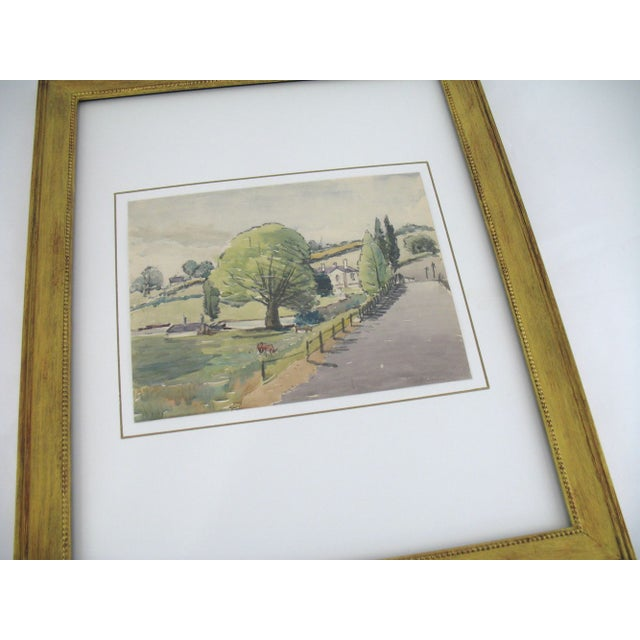 Original French Watercolor Painting 1930s - Image 2 of 5