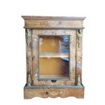 Image of French Marquetry Walnut Display Cabinets - A Pair