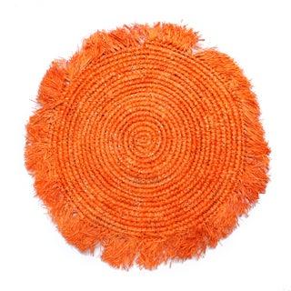 Balinese Tangerine Raffia Round Placemat