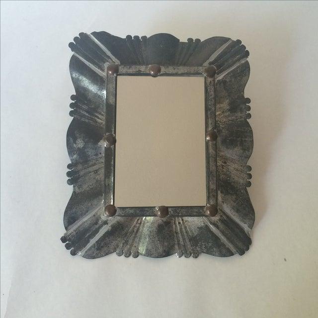 Vintage Tin & Copper Mirror - Image 2 of 11