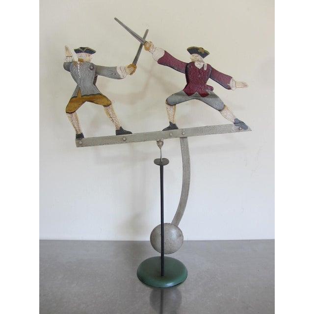 """The Duel"" Balancing Folk Art - Image 2 of 8"