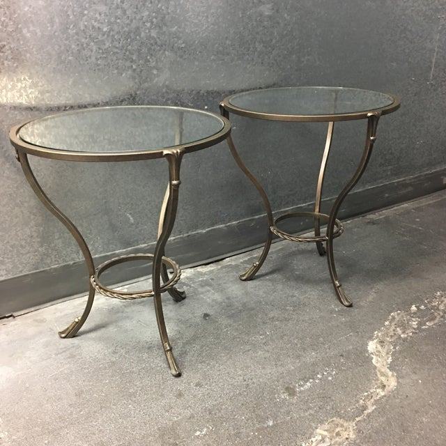 Kolkka Metal & Glass Side Tables - A Pair - Image 3 of 7