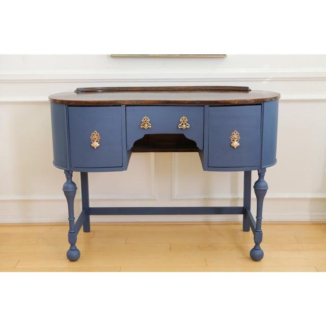 Circa 1930 Louis XV Style Petite Kidney Shaped Desk - Image 11 of 11