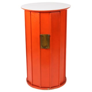 Orange Hexagonal Cabinet Side Table