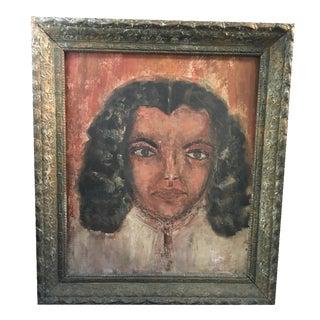Elia Braca Mid-Century Portrait Painting
