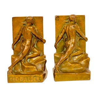 The Builder Bronze Bookends - Pair