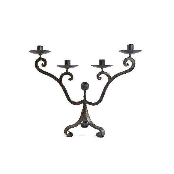 4-Arm Curvy Metal Candelabra - Image 2 of 7