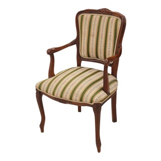 Louis XV Style Striped Fauteuil