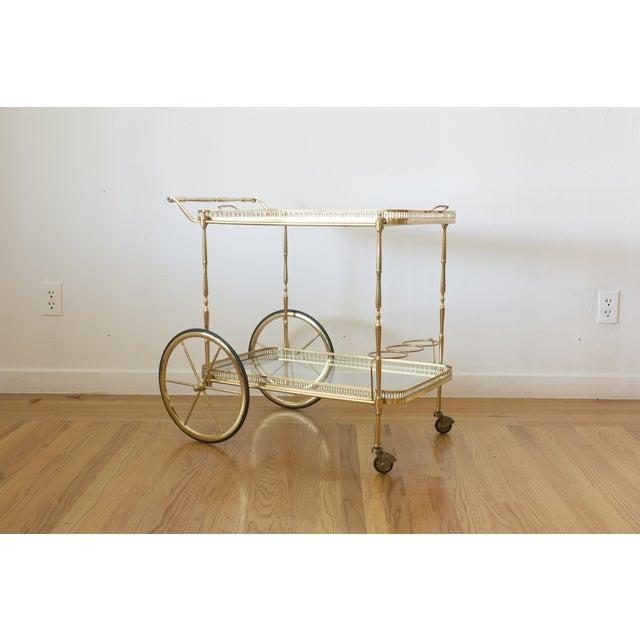 Hollywood Regency Brass Cart - Image 2 of 5