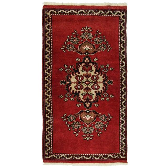 Vintage Turkish Red Yastik Rug - 1'10 X 3'3 - Image 1 of 2