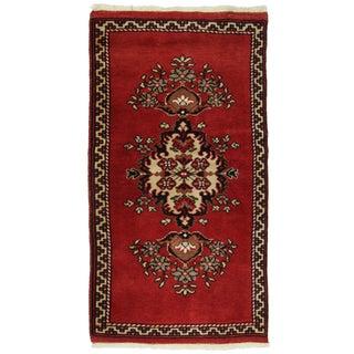 Vintage Turkish Red Yastik Rug - 1'10 X 3'3