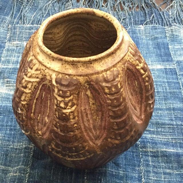 1970s Vintage Brutalist Studio Pottery Vase - Image 4 of 7