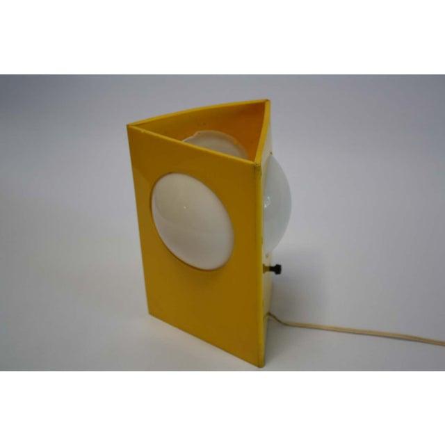 Mid-Century Mod Plastic Triangle Lamp - Image 8 of 10