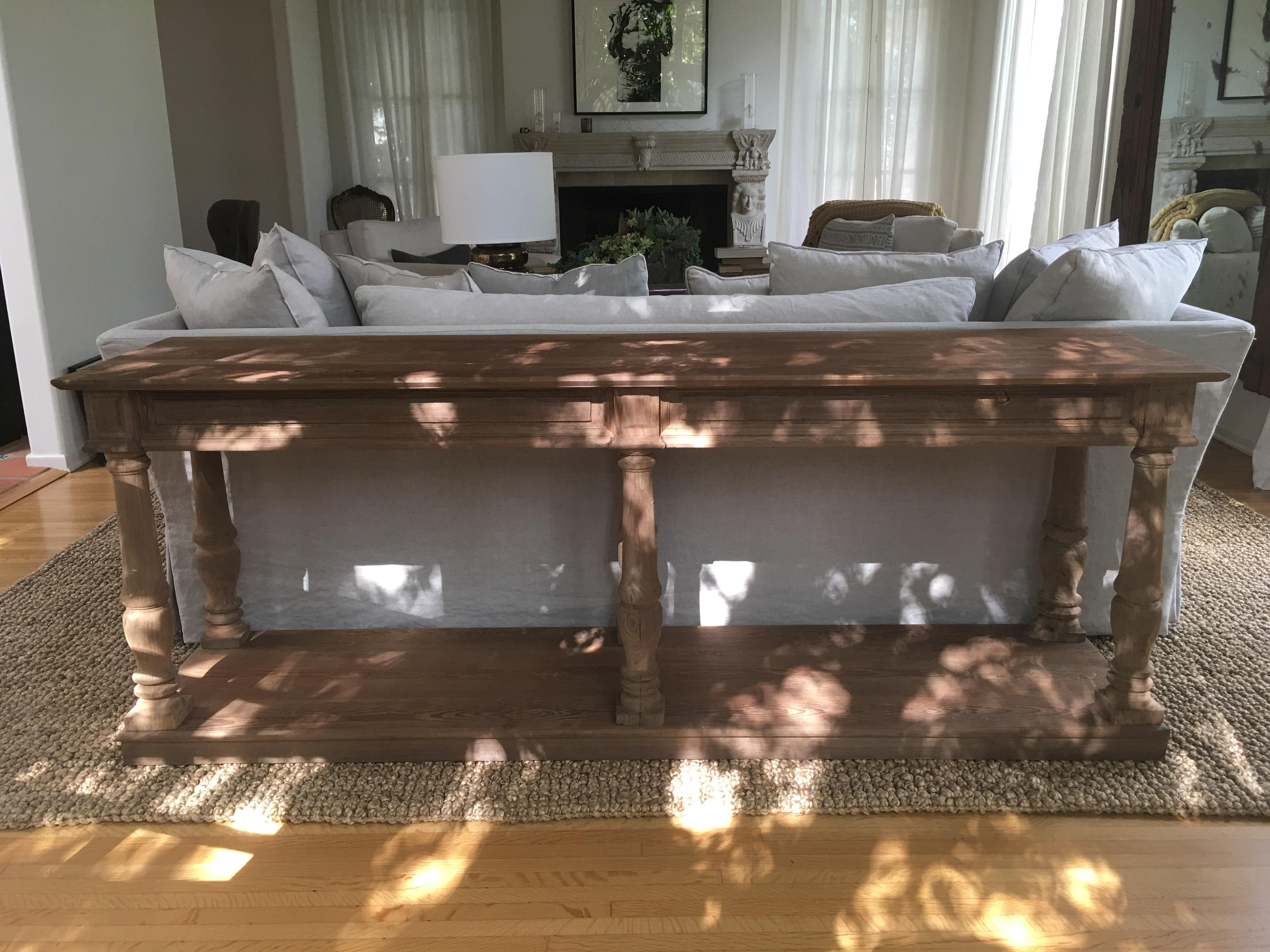 Attractive Restoration Hardware Distressed Rectory Console Table   Image 2 Of 8