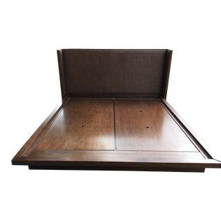 McGuire Furniture Brown Rattan California King Bed