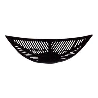 Black Swoop Bowl Basket