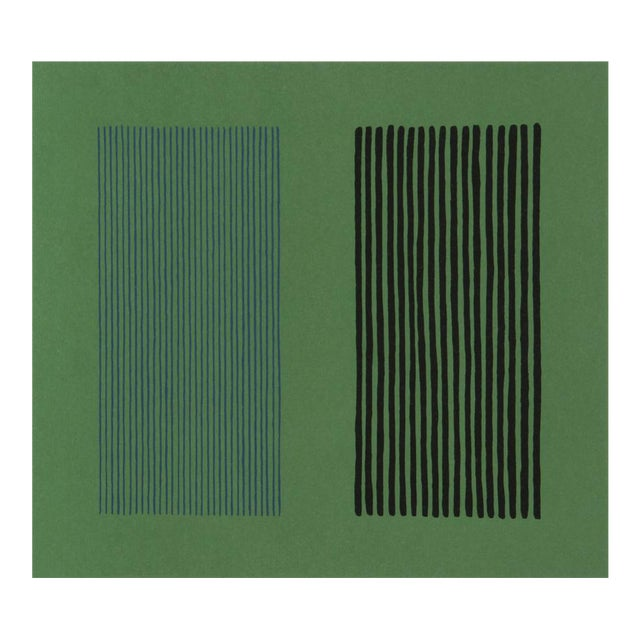 Green Giant Lithograph by Gene Davis - Image 1 of 3