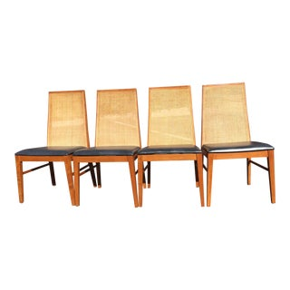 Dyrlund Cane Back Dining Chairs - Set of 4