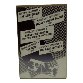 1980's Vintage Crazy Al's Concert Series Poster