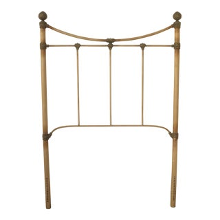 Vintage French Country Style Iron Twin Headboard