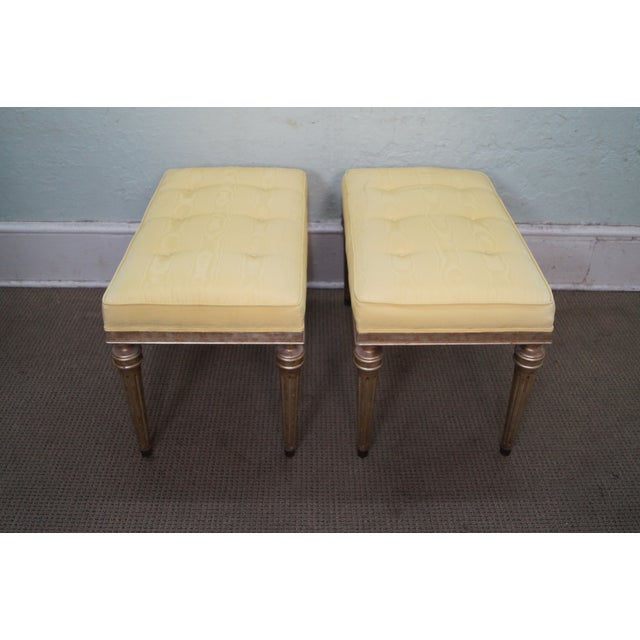 Vintage Custom Silver Gilt Regency Benches - Pair - Image 2 of 9