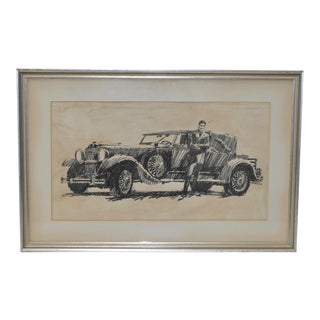 1920s Vintage Original Automobile Illustration by B. Termeo