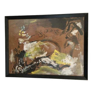 1960s Vintage Abstract Painting
