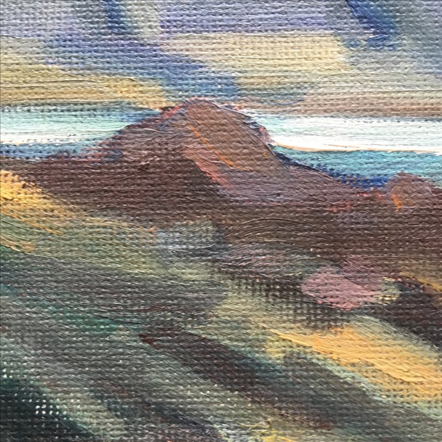 Abstract Seaside Landscape Painting Pacific Grove - Image 9 of 11