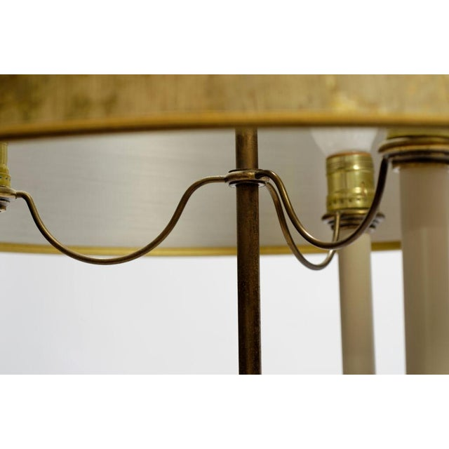 Pair Stiffel Large Brass & Crystal Bouillotte Table Lamps - Image 7 of 7