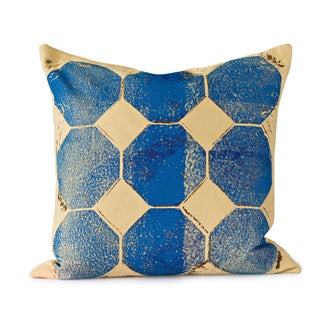 Blue Octagon Throw Pillow