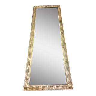 Gold 'Pressed Tin' Style Wood Framed Mirror