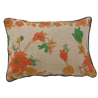 Floral Kantha Pillow