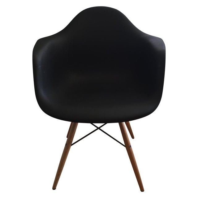 Image of Eames Replica Black Molded Armchair