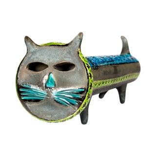 Aldo Londi Bitossi Mid Century Modern Ceramic Cat
