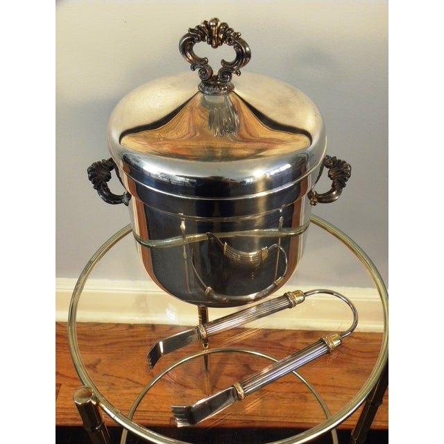 Image of Vintage FB Rogers Silver Co. Ice Bucket W/ Tongs