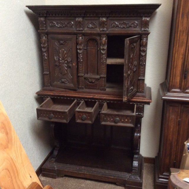 Mediterranean Style Antique Elements Cabinet - Image 7 of 11