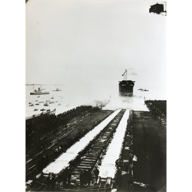 Launching the Normandie, Silver Gelatin Photograph - Image 4 of 4