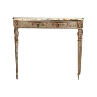 Antique Louis XVI-Style Onyx-Top Console