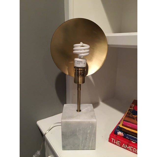 Modern Marble & Metal Directional Table Lamp - Image 2 of 8