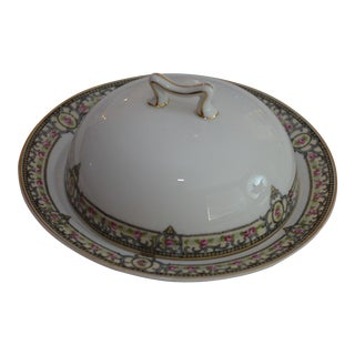 Round Covered Butter Serving Dish