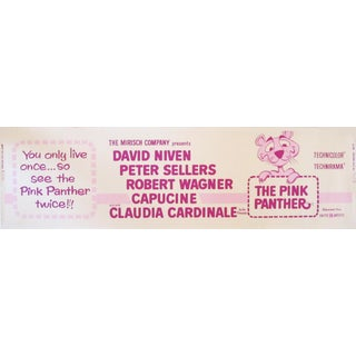 1963 Vintage Pink Panther Theatrical Movie Banner Poster