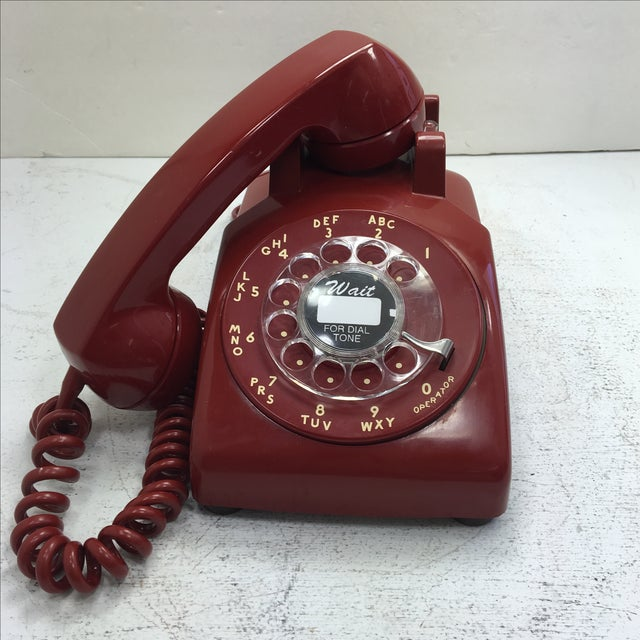 Western Electric Red Rotary Dial Telephone - Image 9 of 11
