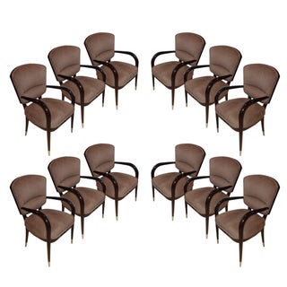 Enrique Garcel Macassar Dining Armchairs - Set of 12