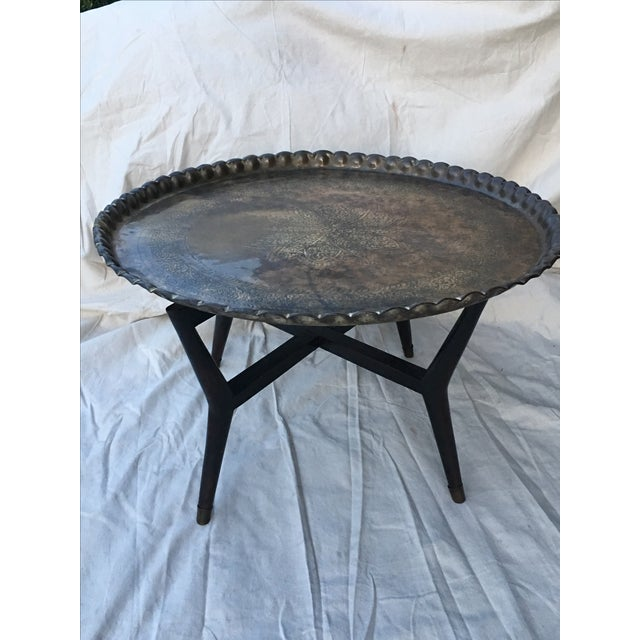 Coffee Table With Tray Top: Moroccan Tray-Top Coffee Table
