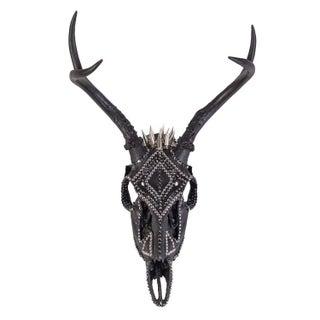 Black Out Armored Deer Skull