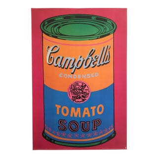 Andy Warhol Original Offset Lithograph Print Poster Campbells Soup Can