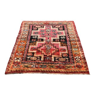 Hand Woven Wool Persian Rug - 5′4″ × 6′5″