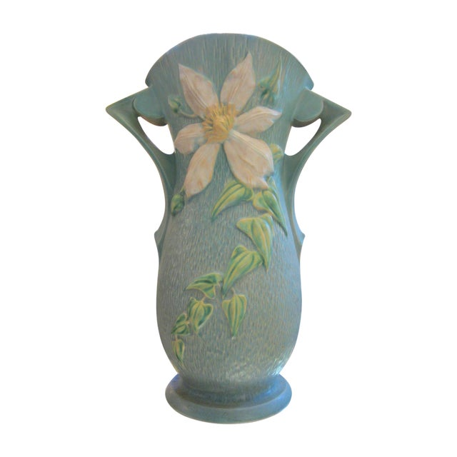 "Extra Large Roseville USA ""Clematis"" Vase - Image 1 of 9"
